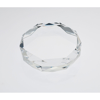 Gem Cut Crystal Paperweight