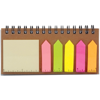 Notebook with Sticky Notes & Flags